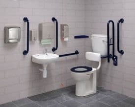 Low Level Disabled Toilet Pack with Colostomy Shelf - DTUK17B-C Eco Blue