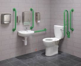 Bespoke Colour Close Coupled Disabled Toilet Pack - DTUK18BE