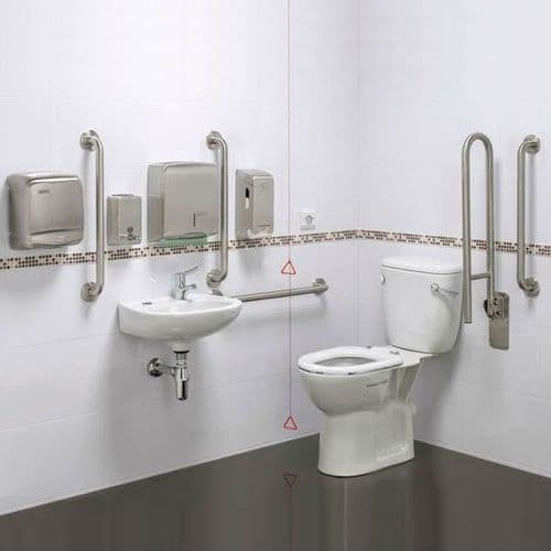 DTUK14 Pro Close Coupled Disabled Toilet Doc M Pack
