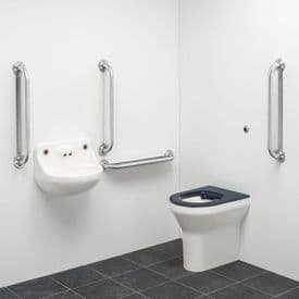 DTUK150S Ligature Resistant Disabled Toilet Pack - Stainless Steel