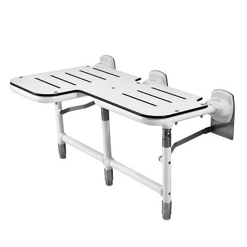 DTUK760 Wall-Mounted Bariatric Heavy Duty Fold-Up Shower Seat with Legs