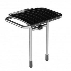 DTUK79 Wall-Mounted Bariatric Fold-Up Slatted Shower Seat with Legs