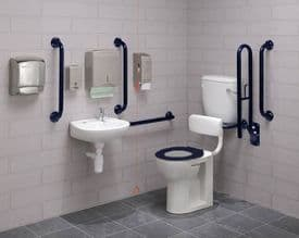 Low Level Disabled Toilet Pack: DTUK17B Eco Blue
