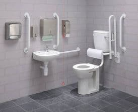 Low Level Disabled Toilet Pack + Free Door Sign: DTUK17 Eco White