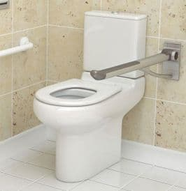 Zero 100 Close Coupled Disabled Toilet Wheelchair & Infection Control Friendly