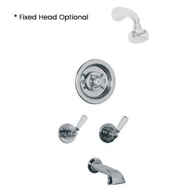 CLEARANCE - GD8810 Lefroy Brooks Godolphin Archipelago Thermostatic Bath/Shower Mixing Valve -Nickel