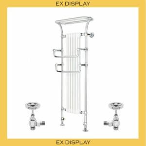 EX DISPLAY - Bard & Brazier Florian Butler 1629x648mm Heated Towel Rail with Pulman Stopcocks-Chrome