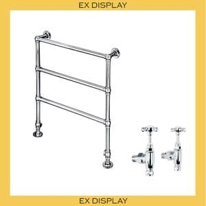 EX DISPLAY - Bard & Brazier La Fayette 950x800mm Heated Towel Rail with LB Classic Stopcocks- Chrome