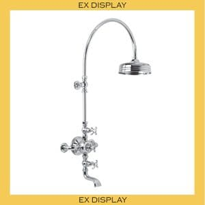 "EX DISPLAY - FR8630 Lefroy Brooks La Chapelle Exp Therm Valve, Riser, 8"" Rose, Bath Filler - Chrome"