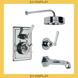 "EX DISPLAY - MK8706 Lefroy Brooks Mackintosh Wall-Mounted Bath Shower Mixer Set with 8"" Rose- Nickel"