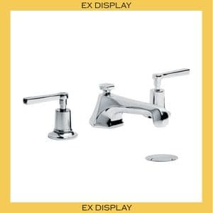 EX DISPLAY - ML1228 Lefroy Brooks Mackintosh Lever 3-Hole Basin Mixer Tap with Pop-Up Waste - Chrome