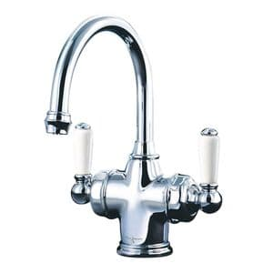 1337 Perrin & Rowe Traditional Monobloc Dual Lever Basin Mixer Tap with Filtration
