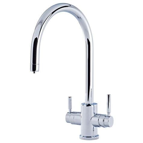 1912 Perrin & Rowe Phoenix 3-in-1 Instant Hot Water Kitchen Tap With C-Spout