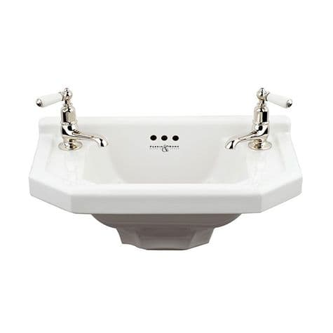 2952 Perrin & Rowe Deco Two Hole Cloak Room Basin