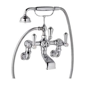 3006/1 Perrin & Rowe Wall Mounted Bath / Shower Mixer Tap With Lever Handles And Handshower