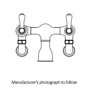 3009 Perrin & Rowe Wall Mounted Bath Filler Tap With Lever Handles