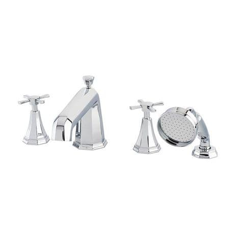 3149 Perrin & Rowe 4-hole Bath Shower Mixer Tap With Crosstop Handles