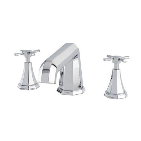 3159 Perrin & Rowe 3-hole Deck Mounted Bath Filler Tap With Crosstop Handles