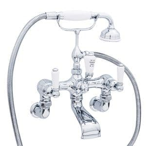 3510/1 Perrin & Rowe Bath Shower Mixer Tap And Wall Unions Lever