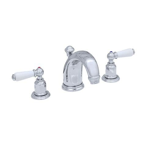 3700 Perrin & Rowe Three Hole Basin Tap Set With High Neck Spout Lever