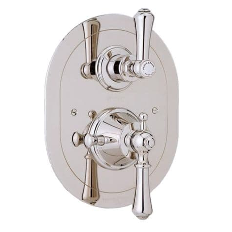 5756 Perrin & Rowe Concealed Thermostatic Shower With Oval Face Plate And Lever Handles