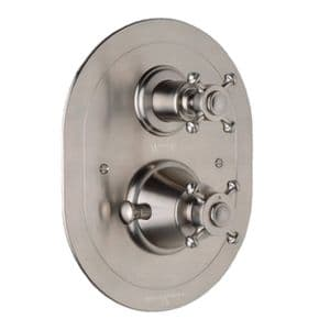 5757 Perrin & Rowe Concealed Thermostatic Shower With Oval Face Plate And Cross Handles