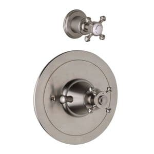 5776 Perrin & Rowe Georgian Concealed Thermostatic Shower With Remote Flow Control And Cross Handles