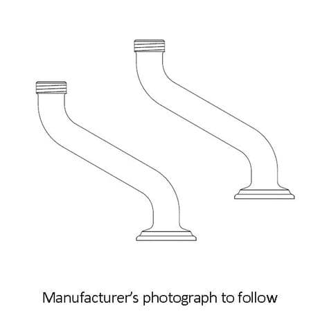 6386 Perrin & Rowe Extended Pillar Unions For Bath Shower Mixer Tap