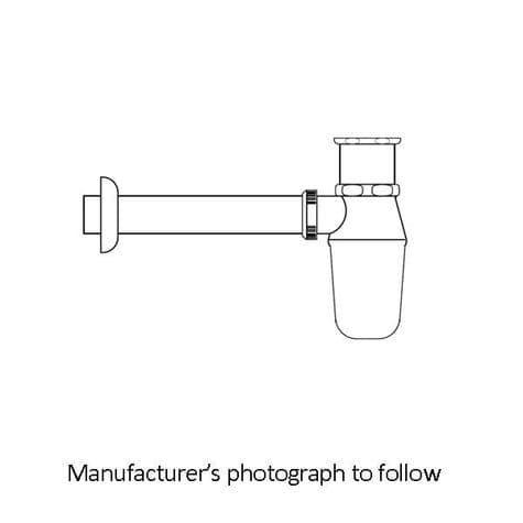 6703 Perrin & Rowe Bottle Trap With Outlet, Pipe And Flange