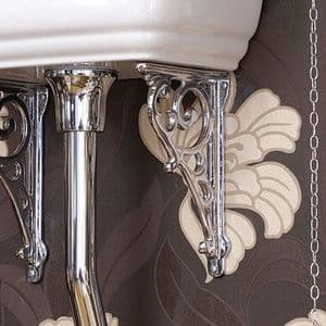 6865 Perrin & Rowe Pair Ornate Cistern Wall Brackets