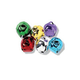 10mm COLOURED Jingle Bells 6 pcs Sew On