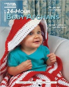 24-Hour Baby Afghans Crochet Book LA 4883 DISCONTINUED