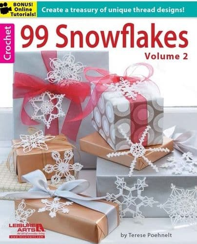 99 Snowflakes VOLUME 2 Crochet Pattern Book 5839 DISCONTINUED