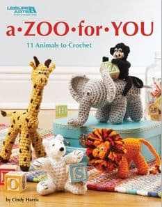 A Zoo For You Crochet Pattern Book LA 5152 DISCONTINUED