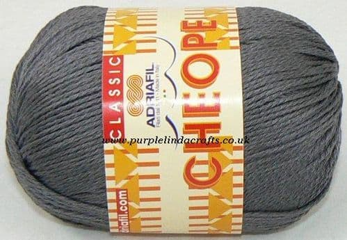 Adriafil CHEOPE Cotton 016 Lead Grey REDUCED