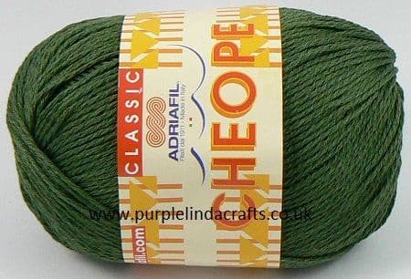 Adriafil CHEOPE Cotton 064 Forest Green REDUCED