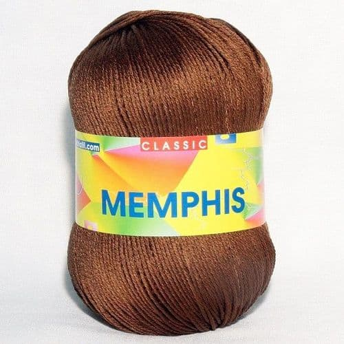 Adriafil MEMPHIS Cotton Yarn 86 Brown REDUCED
