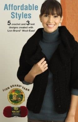 Affordable Styles Crochet & Knit Pattern Book A5 75335 DISCONTINUED