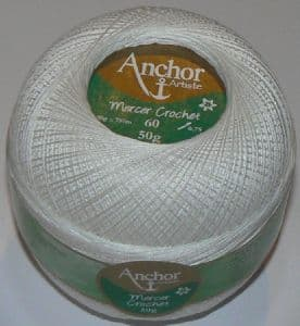Anchor Artiste Mercer Crochet Cotton Thread No.60 tkt