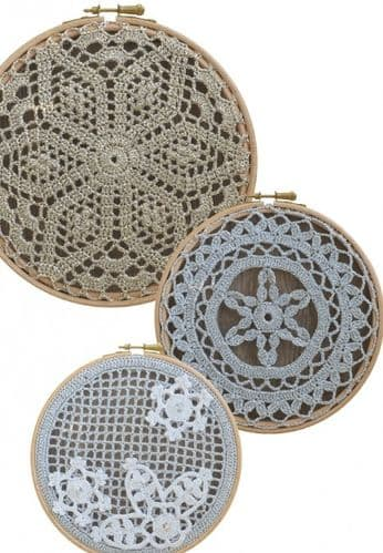 Anchor Frame it Doilies/Snowflake Decoration KIT 302 Pale Gold