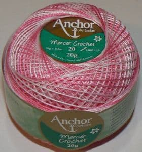 Anchor Mercer Crochet Cotton No.20