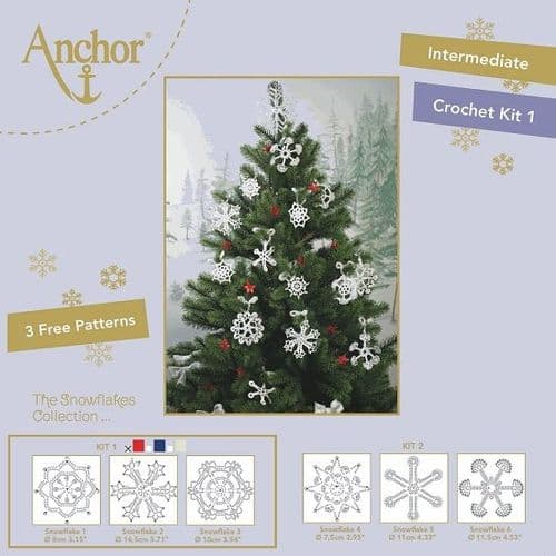 Anchor Snowflake Crochet Kit 1 RED