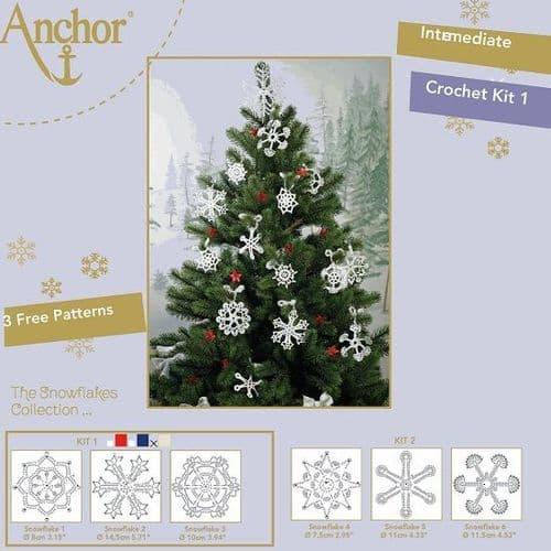 Anchor Snowflake Crochet Kit 1 White 7001