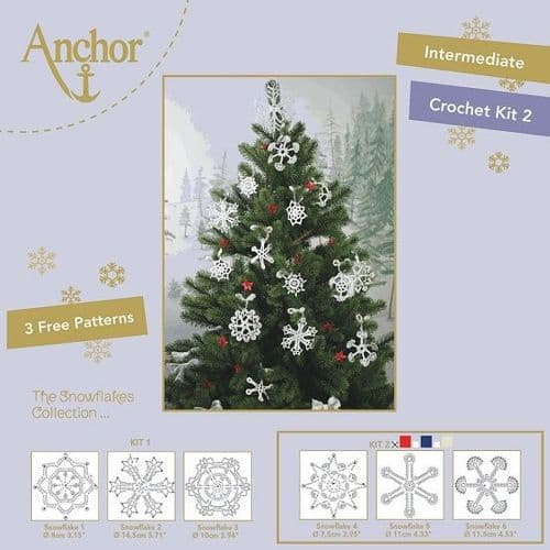 Anchor Snowflake Crochet Kit 2 RED