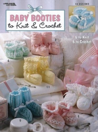 Baby Booties to Knit & Crochet Pattern Book LA 2731 DISCONTINUED