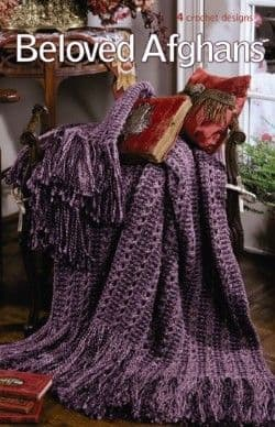 Beloved Afghans Crochet Pattern Book A5 75268 DISCONTINUED