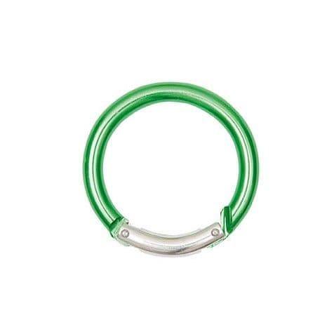 CARABINER Key Ring Round Green