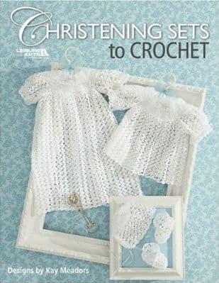 Christening Sets to Crochet Baby Pattern Book LA 4267 DISCONTINUED