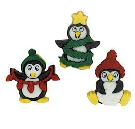 Christmas Embellishment Pack | Holiday Penguins | Dress it up 7472