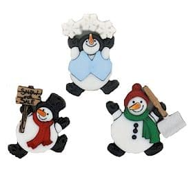 Christmas Embellishment Pack | Roly Poly Snowmen | Dress it up 7493